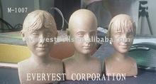 Vivid sculpture head clay mold figurine for amercian doll