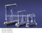 fashionable 3D laser crystal trophy memento