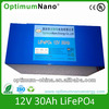 emergency light battery 12V 30Ah of lifepo4 rechargeable battery pack for emergency,Energy storage