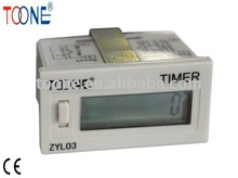 miniature built-in battery LCD display electronic digital hour meter ZYL03