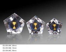 Star shape Crystal diamond with cup LOGO
