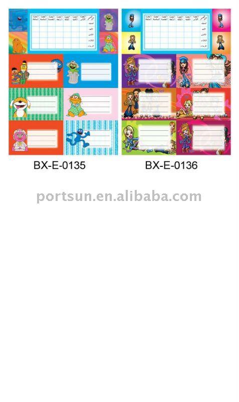 beautiful children school label