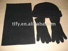 provide man winter polyester colorful scarf hat gloves set