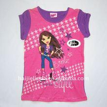 Fashion girls short sleeve wear children t-shirt