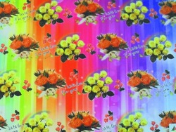 Colorful light weight coated floral wrap paper