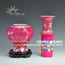 Jingdezhen Modern Art Red Ceramic Porcelain Vase
