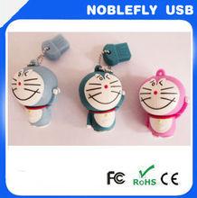Hotsale Design Keychain doraemon Shape USB Pen Drive