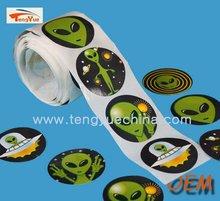3m custom roll printed plastic round adhesive stickers