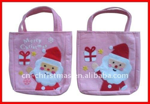 navidad con bolsa de santa claus