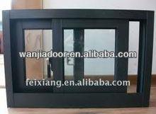 cheap sliding window/60 series aluminum sliding window/foshan wanjia brand