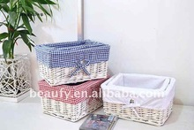 handicraft willow storage basket