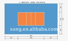 professional hot sell pvc volleyball sports floor for indoor