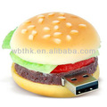 Oem 1gb borracha hamburger usb flash drive( wbt- e0345)
