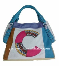 PU Colorful Half Circle Pattern The Most Popular Style In SUMMER For Yong Ladies