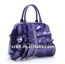 2012 new design pu or genuine leather ladies handbags sale