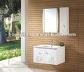 2012 venda quente alto branco brilhante pvc armários de banheiro