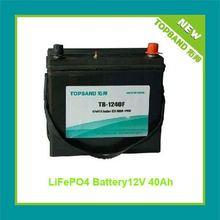 New Lifepo4 12V Battery Pack for Start Car with BMS+SLA Case