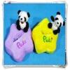 Plush phone holder with panda toy