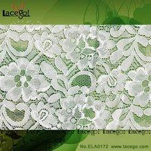 De Nylon de algodón bordado de flores de tela del cordón del Vintage