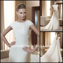 2012 Custom Made Designer Wedding Dress With High Quality Fabrics topbride514