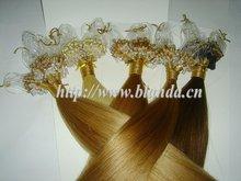 Silicon Micro loop ring hair extension European raw hair