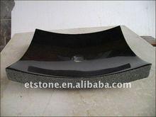 Natural split and polished shanxi black sinks