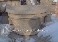 Sandstone flower urns