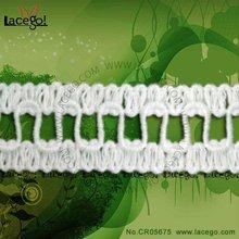 Fashion Bridal White Cotton Crochet Lace Trim
