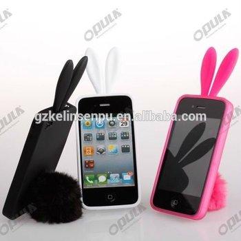 2014 color lucky rabbit silicon mobile phone cover