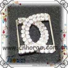 Latest glittery crystal rhinestone buckle for garment accessory