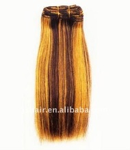 mix human hair yaki straight hair extension piano color human hair weaving factory manufacturer wholesale