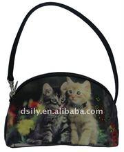 cats digital printing shoulder bag with short strap