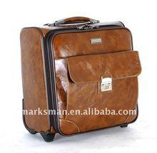 PU leather cabin trolley luggage