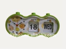 Modern flip calendar clock for decor