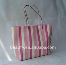 2015 fashion stripe paper straw women handbags