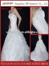 2012 latest organza bridal gown