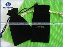 2014 New design black velvet pouches gift bags