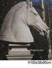 Antique stone horse head sculpture IWA0034