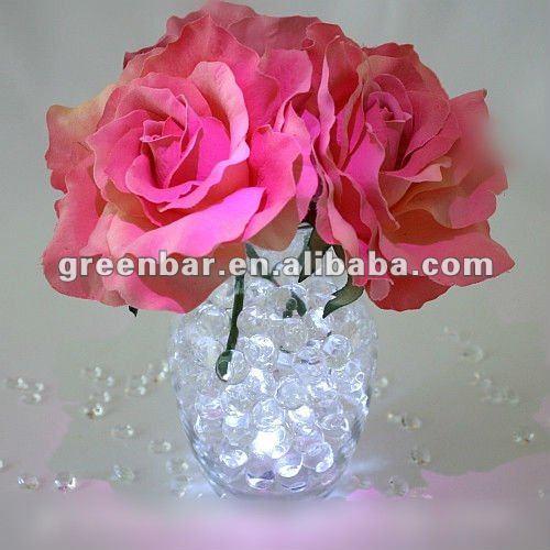 Contas de água/pérolas água para arranjo de flores, decoração de festa, castiçal