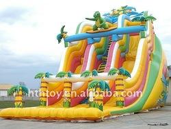 popular tropical rain forest inflatable slide for kids