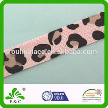 soft satin elastic ribbon with jungle animal print