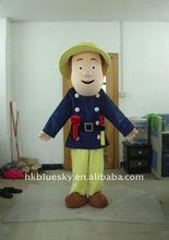 funny popular handmade fireman Sam cartoon costume