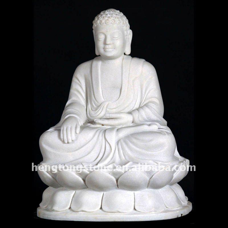 White Gautama Buddha Statue White Marble Buddha Gautama