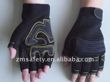 Hot synthetic leather half finger anti-slip bicycle sport gloves ZM873-H