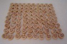 wooden bingo balls number on both side 90pcs per set