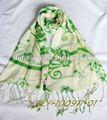 la nueva moda de la gata del algodón deimpresión de larga bufanda de la señora