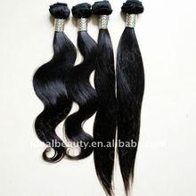 Ideal Hair Arts 100% virgin peruvian human hair weft straight and body wave