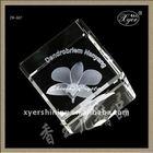 2012 hot selling laser engraved 3d crystal cube