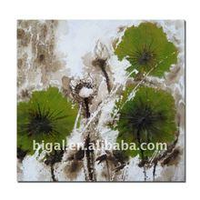 lotus landscape fabric painting design
