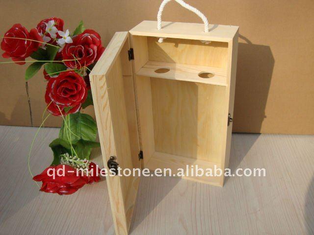 pine wine carrier